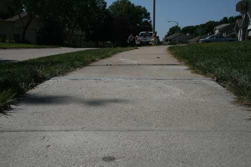 fix uneven concrete walkway